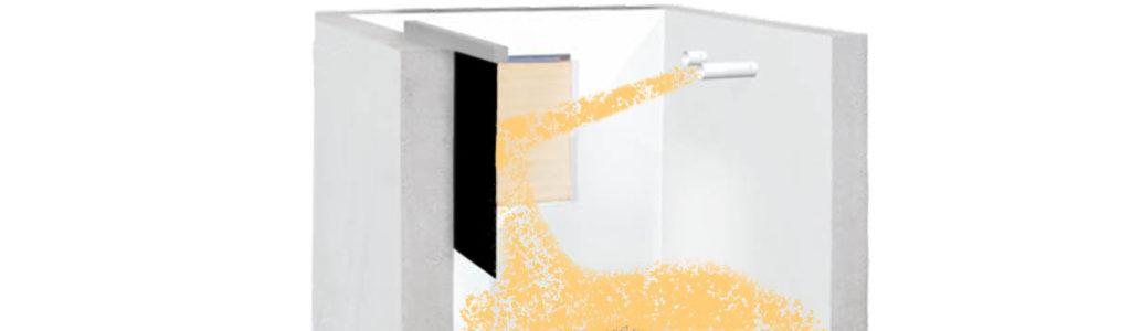 gummimatte als prallschutz im pelletlagerraum